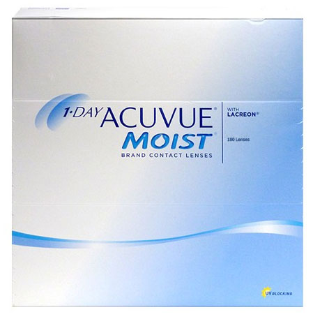 Acuvue 1-Day Moist 180 szt. + CashBack 90 zł GRATIS! (do 1 op.)