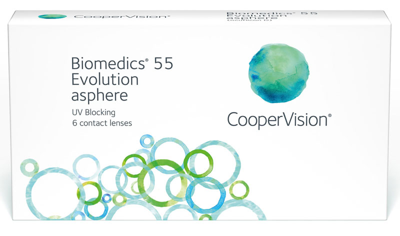 Biomedics 55 evolution™ - moce ujemne