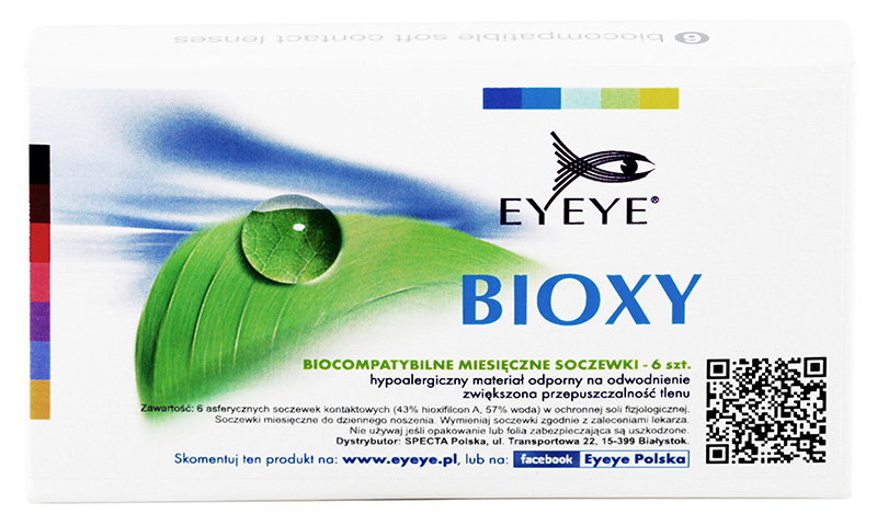 Eyeye Bioxy™ 6 szt. + Płyn GRATIS! (do 2 op.)