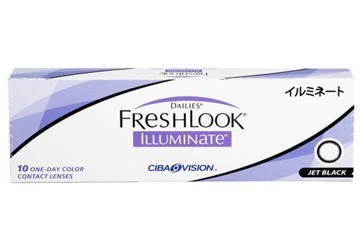 Dailies® FreshLook® Illuminate™ Jet Black 10 szt. - zerówki