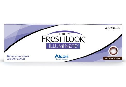Dailies® FreshLook® Illuminate™ Rich Brown 10 szt. - zerówki