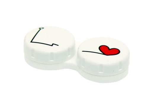 Pojemniczek na soczewki - serce