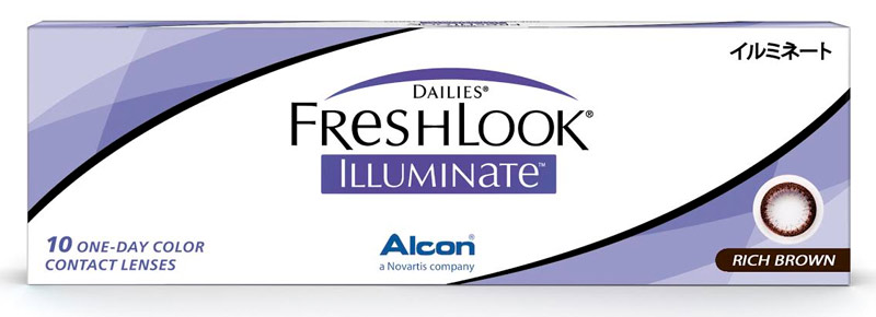 Dailies® FreshLook® Illuminate™ Rich Brown 10 szt. - zerówki