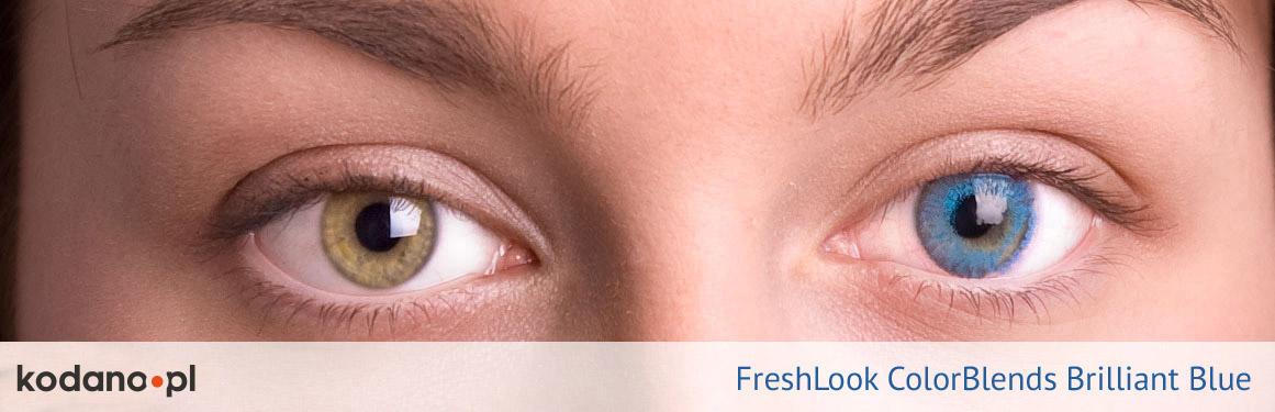 soczewki intensywnie niebieskie FreshLook ColorBlends - 1 osoba