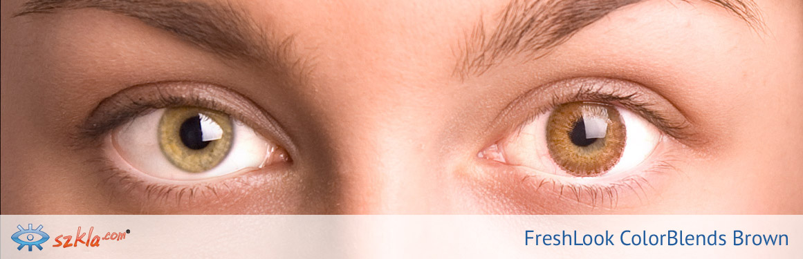 soczewki brązowe FreshLook ColorBlends - 1 osoba