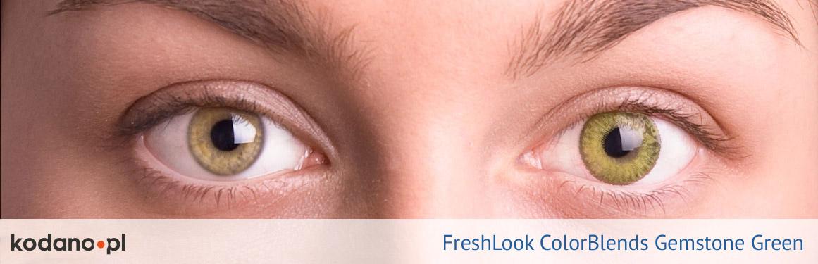 soczewki ciemnozielone FreshLook ColorBlends - 1 osoba