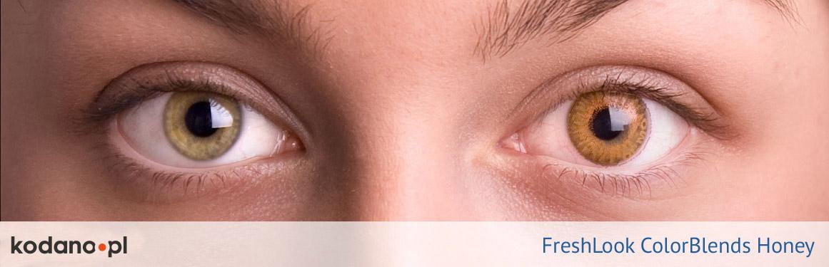soczewki miodowe FreshLook ColorBlends - 1 osoba