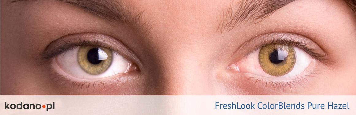 soczewki piwne FreshLook ColorBlends - 1 osoba