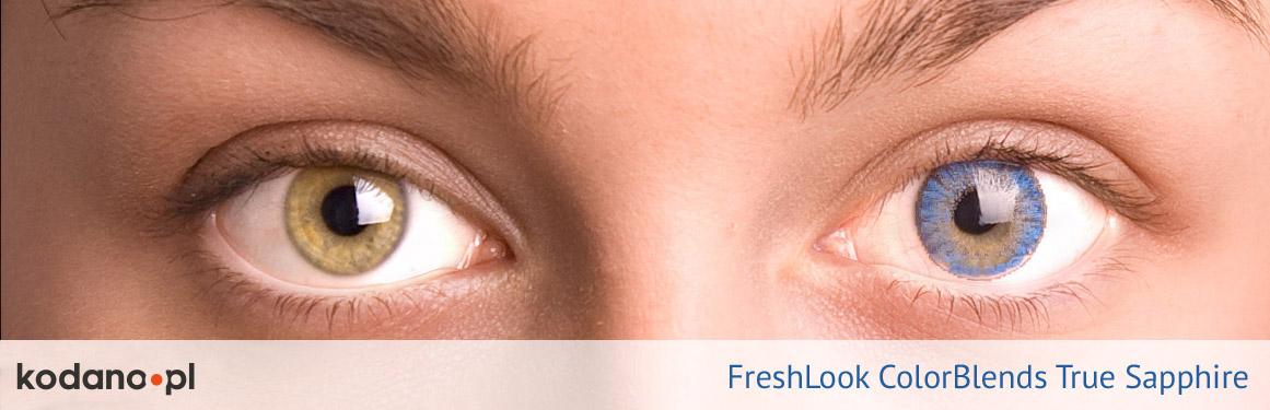 soczewki szafirowe FreshLook ColorBlends - 1 osoba