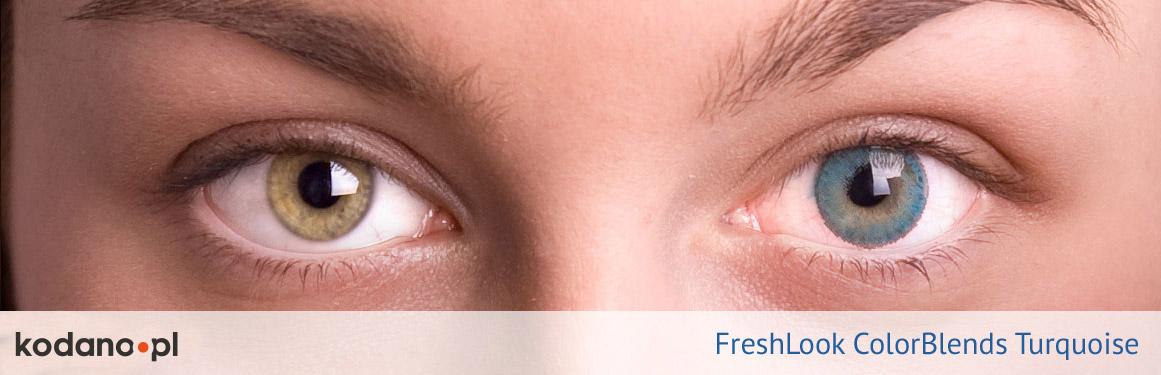 soczewki turkusowe FreshLook ColorBlends - 1 osoba