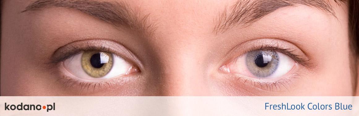 soczewki niebieskie FreshLook Colors - 1 osoba