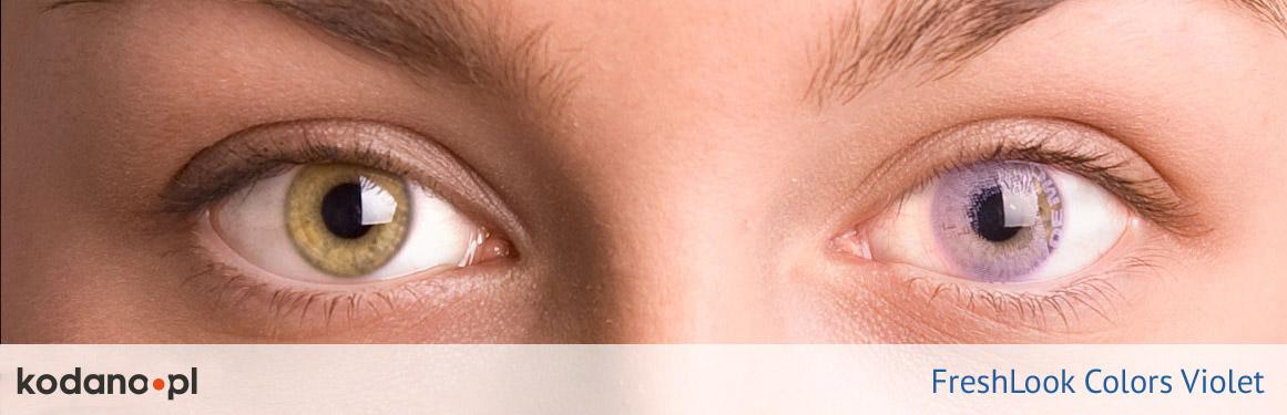 soczewki fioletowe FreshLook Colors - 1 osoba