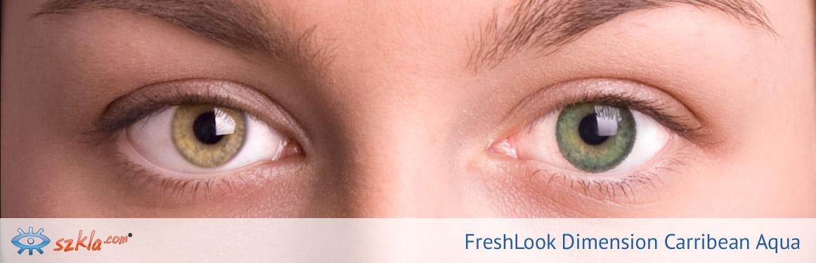 soczewki Carribean Aqua FreshLook ColorBlends - 1 osoba