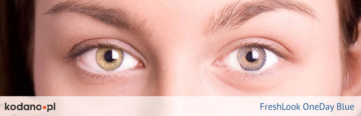 soczewki niebieskie FreshLook One Day - 1 osoba