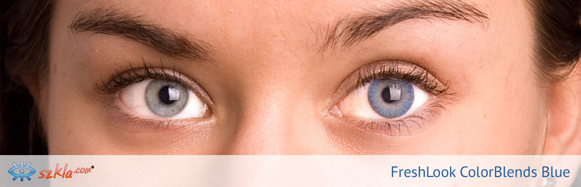 soczewki niebieskie FreshLook ColorBlends - 2 osoba