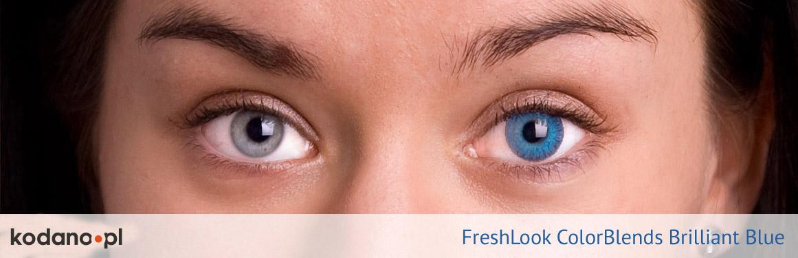soczewki intensywnie niebieskie FreshLook ColorBlends - 2 osoba