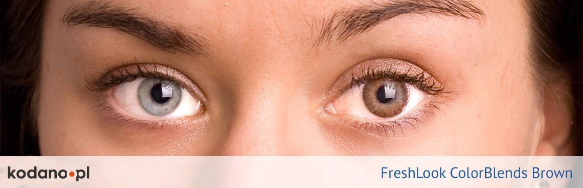 soczewki brązowe FreshLook ColorBlends - 2 osoba