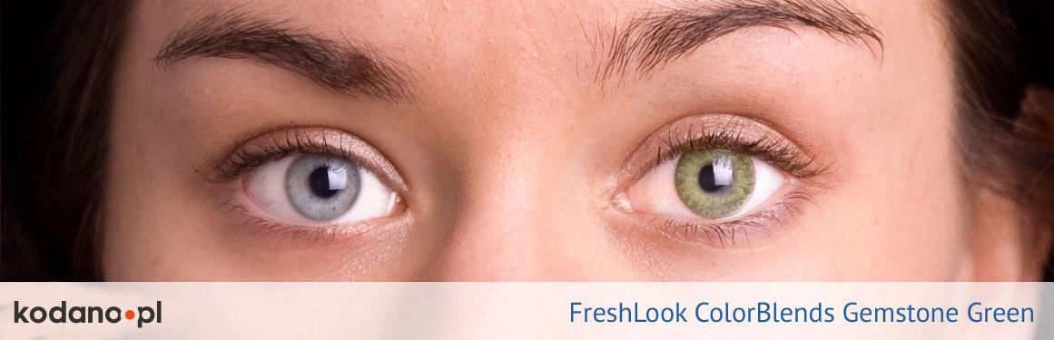 soczewki ciemnozielone FreshLook ColorBlends - 2 osoba