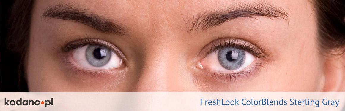 soczewki niebiesko-szare FreshLook ColorBlends - 1 osoba