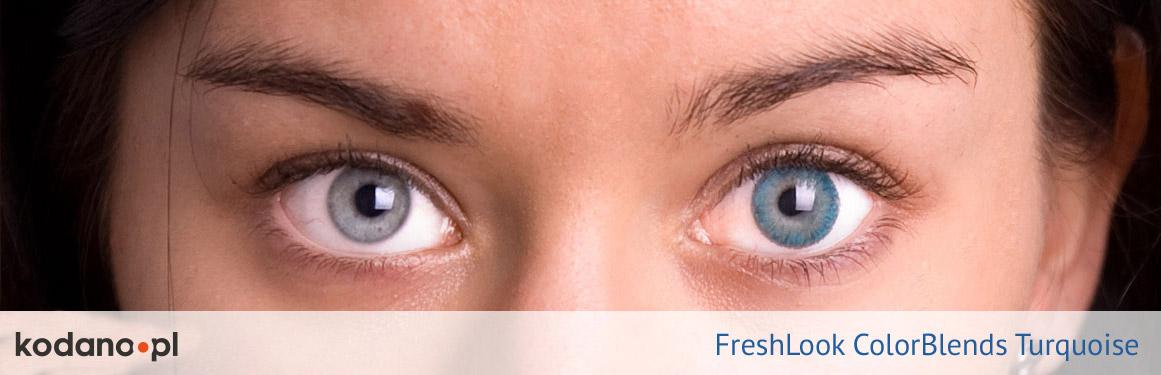 soczewki turkusowe FreshLook ColorBlends - 2 osoba