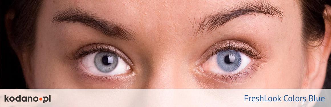 soczewki niebieskie FreshLook Colors - 2 osoba