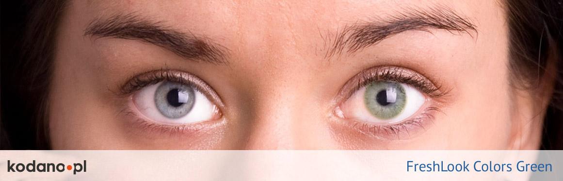 soczewki zielone FreshLook Colors - 2 osoba