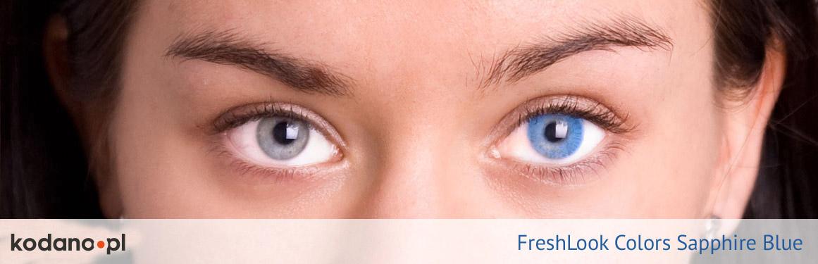 soczewki szafirowe FreshLook Colors - 2 osoba