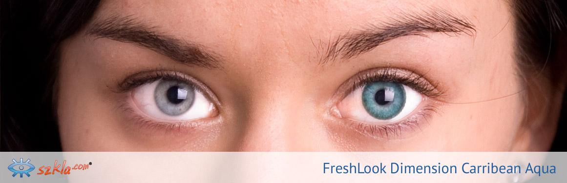 soczewki Carribean Aqua FreshLook ColorBlends - 2 osoba