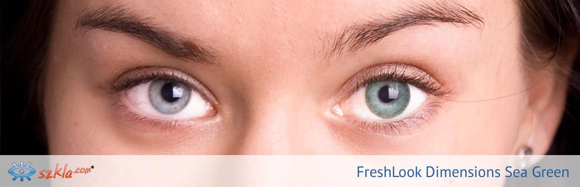 soczewki Sea Green FreshLook ColorBlends - 2 osoba