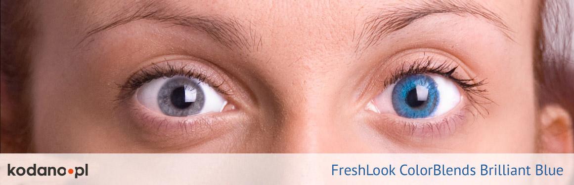 soczewki intensywnie niebieskie FreshLook ColorBlends - 3 osoba