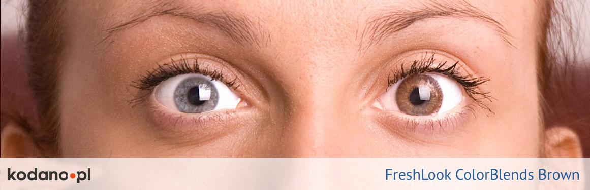 soczewki brązowe FreshLook ColorBlends - 3 osoba