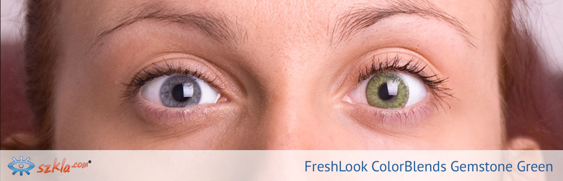 soczewki ciemnozielone FreshLook ColorBlends - 3 osoba