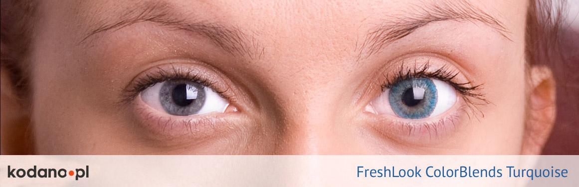 soczewki turkusowe FreshLook ColorBlends - 3 osoba