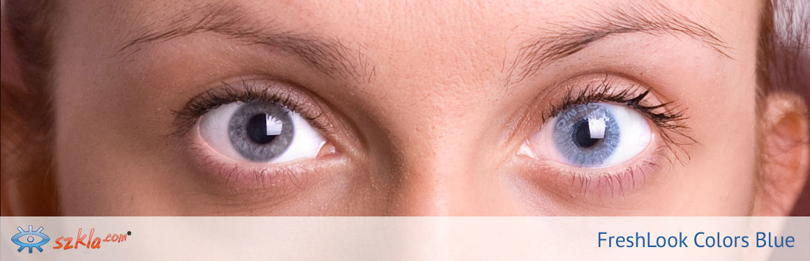 soczewki niebieskie FreshLook Colors - 3 osoba