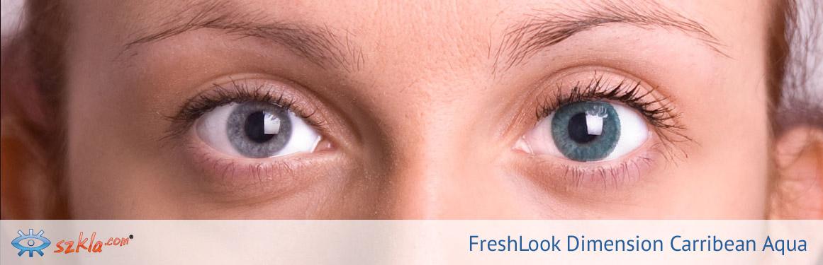 soczewki Carribean Aqua FreshLook ColorBlends - 3 osoba
