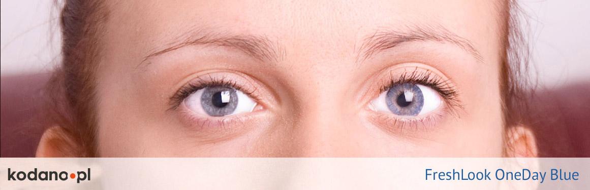 soczewki niebieskie FreshLook One Day - 3 osoba